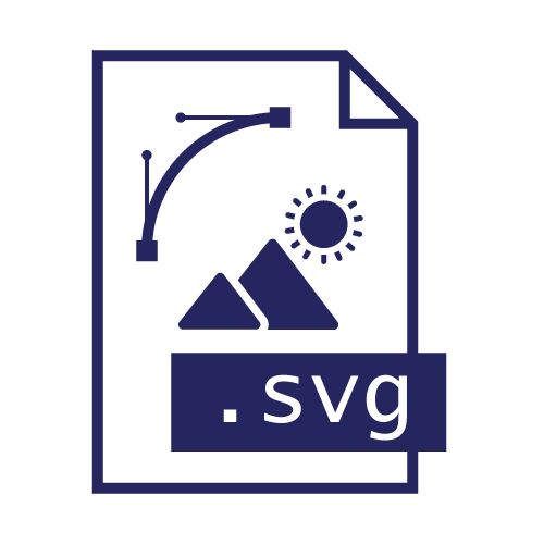 Pictogramme extension de fichier svg